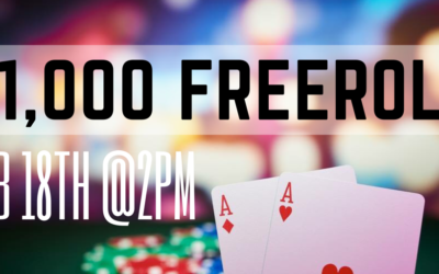$1,000 Freeroll Tourney on February 18th~ totally FREE to play!