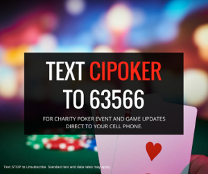 Text CIPOKER to 63566